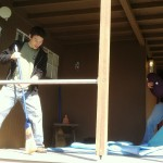 Samu work at the dokusan house.