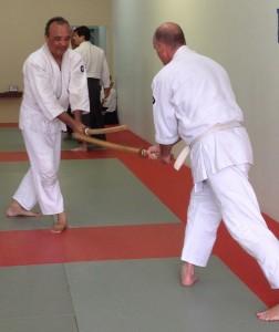 Michael Marquez, right, with Tom Dullam at Ventura Aikikai.