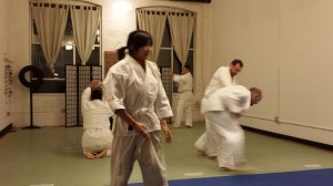 New Year's practice at Fire Horse Aikido in New Haven, Conn.