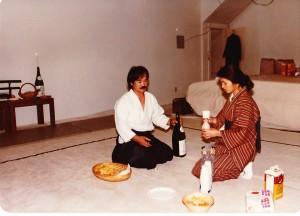 Chiba Sensei and Mrs. Chiba in San Diego, 1981.