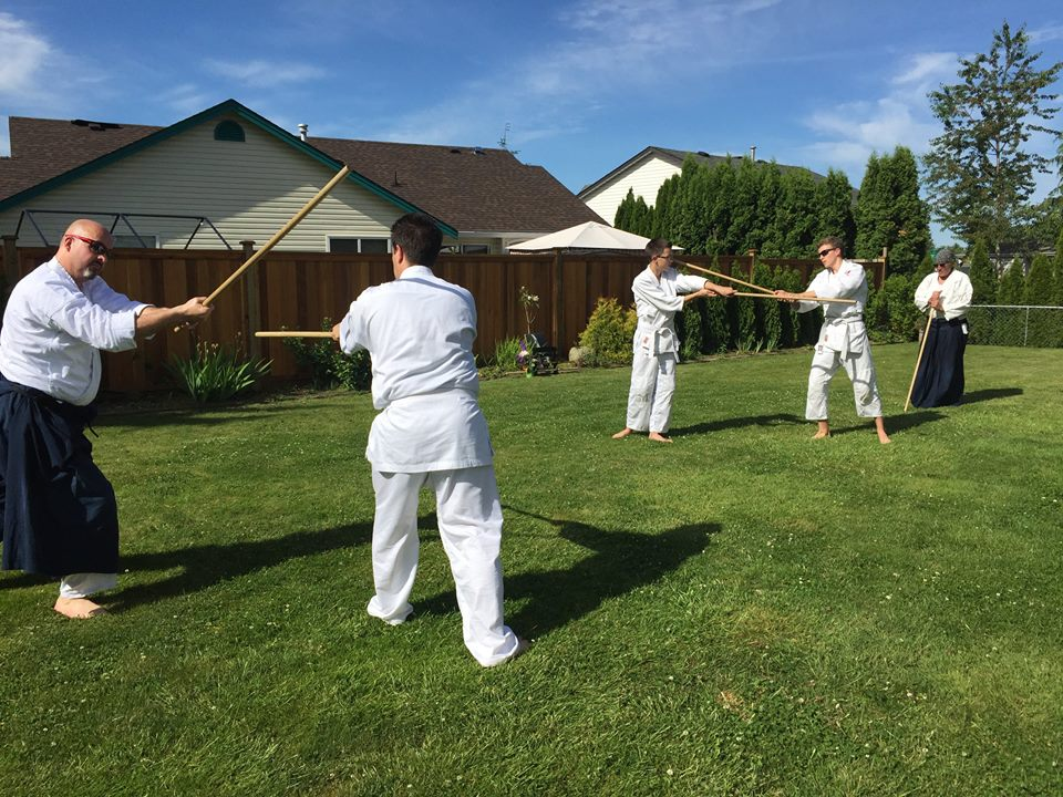 Outdoor training at Aikido Takayama in Mission, B.C.
