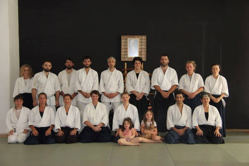 Memorial practice at Athens Aikido in Greece with Jenny Flower and Diane Deskin.