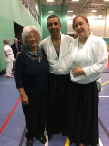 Mrs. Chiba, Miguel Moreno and Liese Klein at the Birmingham Course.