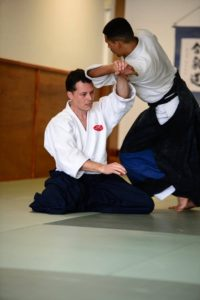 Schenk Sensei displaying a solid suwariwaza foundation