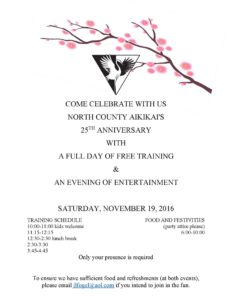 Invitation to our celebration