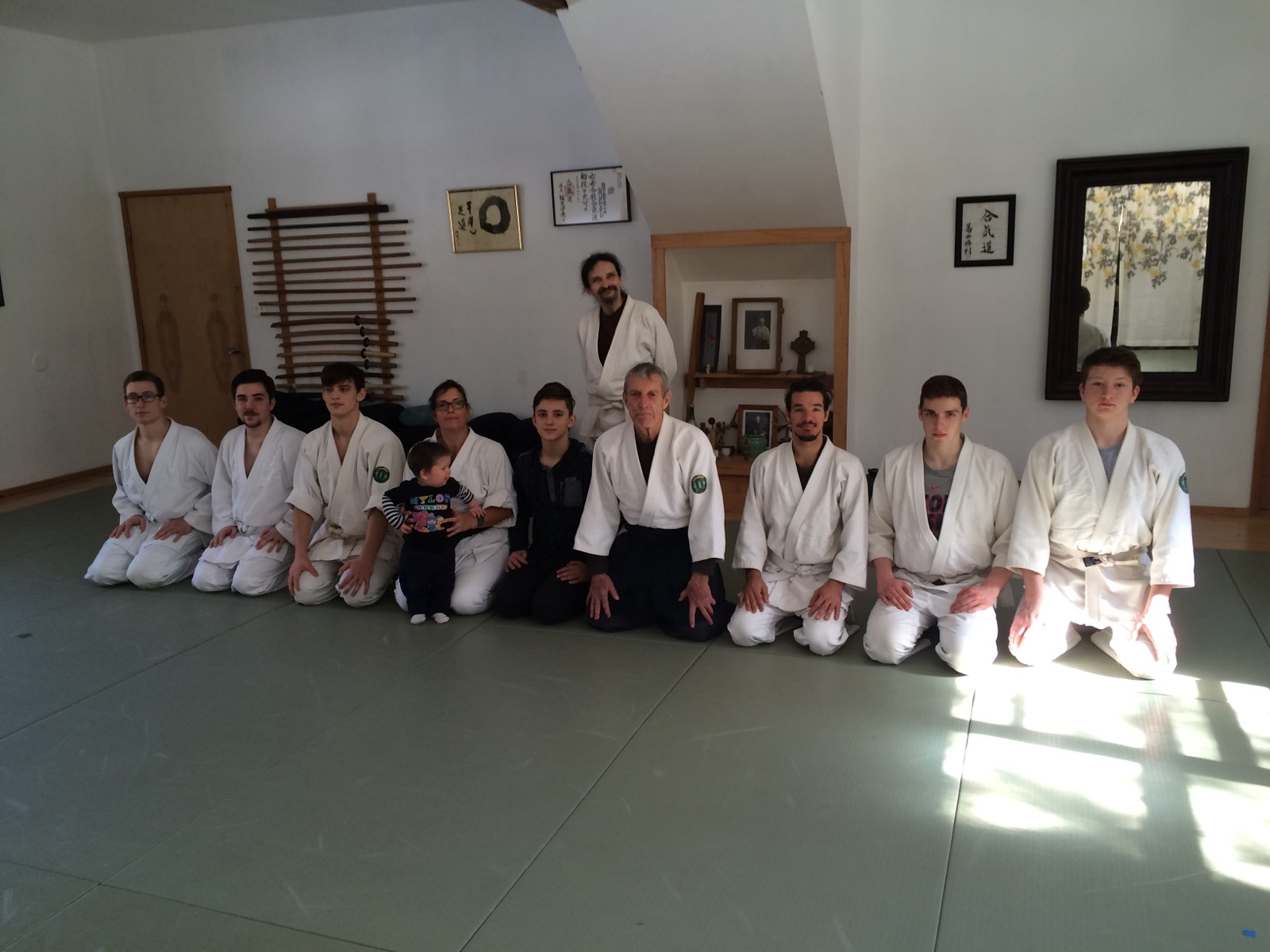 At our home dojo