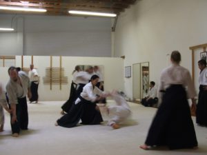 Training hard during the Sandoval Sensei Seminar
