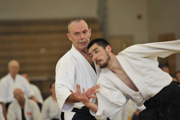 My dad, Mike Flynn, Shihan) and I
